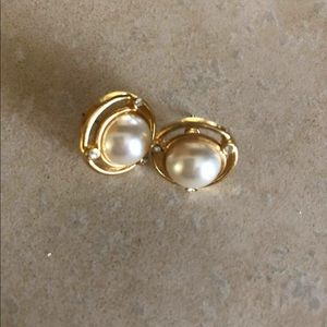 Faux pearl earrings